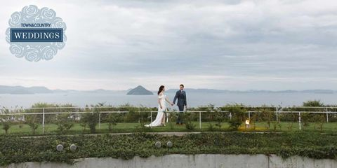 Photograph, Sky, Photography, Wedding, Ceremony, Bride, Cloud, Landscape, Hill, Wedding dress,