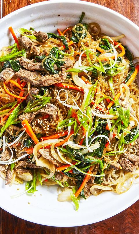 Dish, Food, Cuisine, Ingredient, Noodle, Chow mein, Japchae, Fried noodles, Produce, Chinese food,