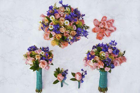 Bouquet, Cut flowers, Flower, Plant, Purple, Artificial flower, Floristry, Floral design, Flower Arranging, Wildflower,