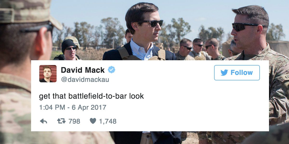 The 19 Most Hilarious Tweets About This Absurd Photo Of Jared Kushner