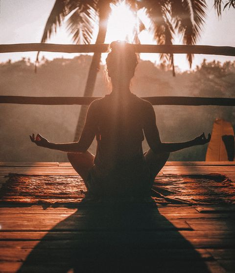 Heat, Water, Backlighting, Physical fitness, Sunlight, Tree, Sky, Yoga, Photography, Sunset,