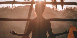 Mediteren in de zon