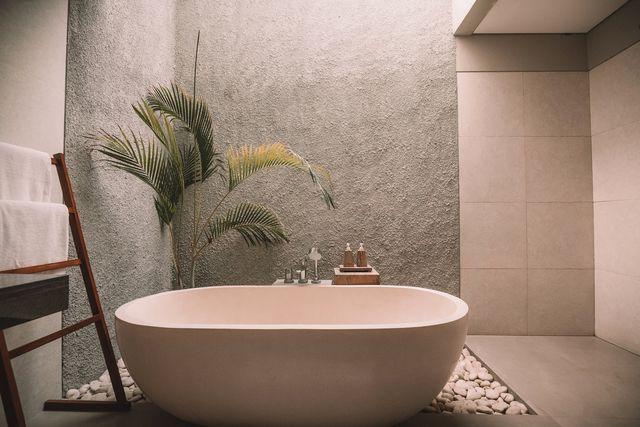 Property, Wall, Interior design, Tile, Floor, Plumbing fixture, Ceramic, Tap, Plumbing, Interior design,