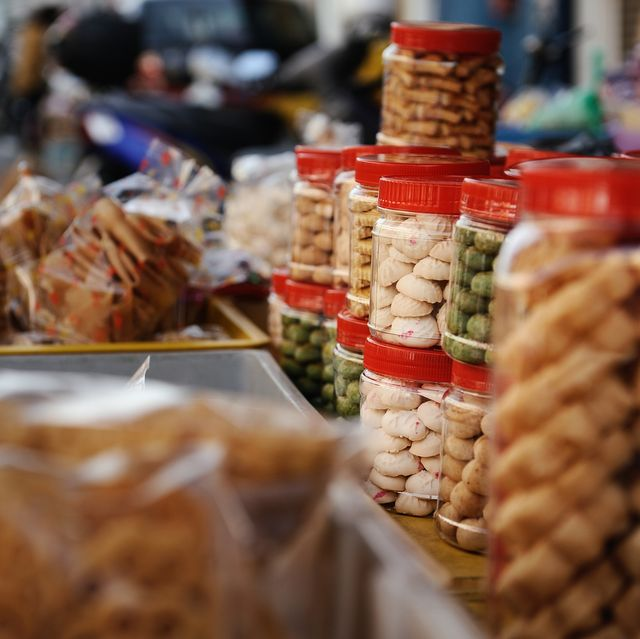 jars of chinese new year sweets