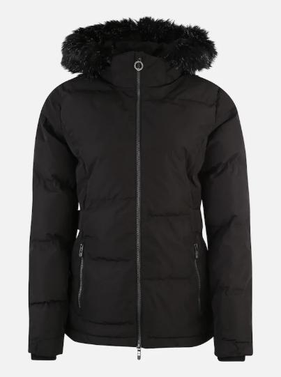 Jacket, Hood, Clothing, Outerwear, Black, Sleeve, Fur, Parka, Puffer, Coat,