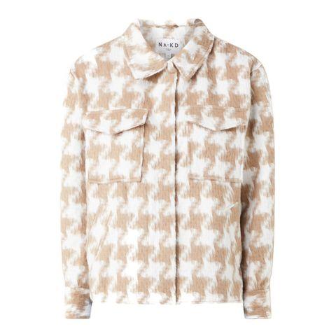 jacket jas ruiten beige roze wit