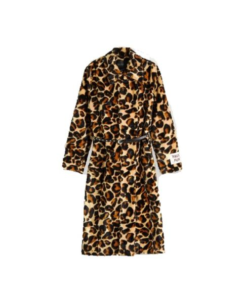 Clothing, Outerwear, Coat, Sleeve, Robe, Yellow, Trench coat, Brown, Fur, Dress,