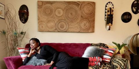 """Jasmin DeForrest photographed for Detroit series """"Couch Beautiful"""""""