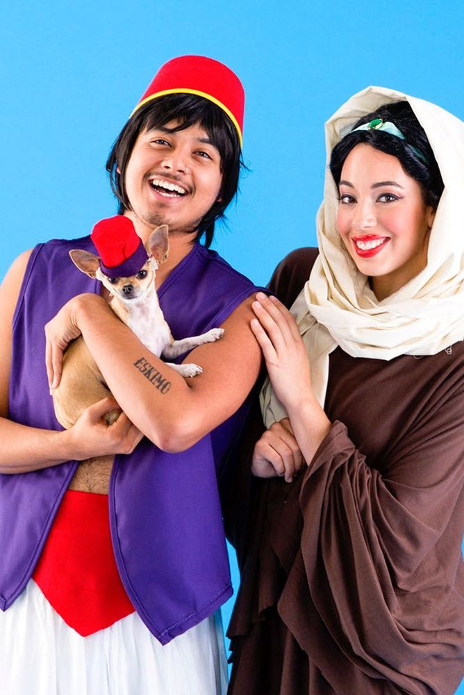 diy jasmine and aladdin costumes