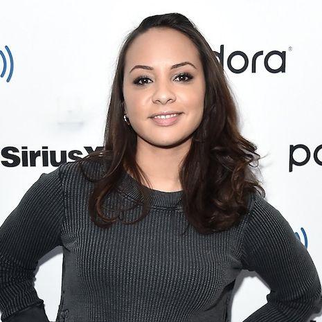Jasmine Cephas Jones visits Siriusxm Studios on November 21, 2019 in New York City