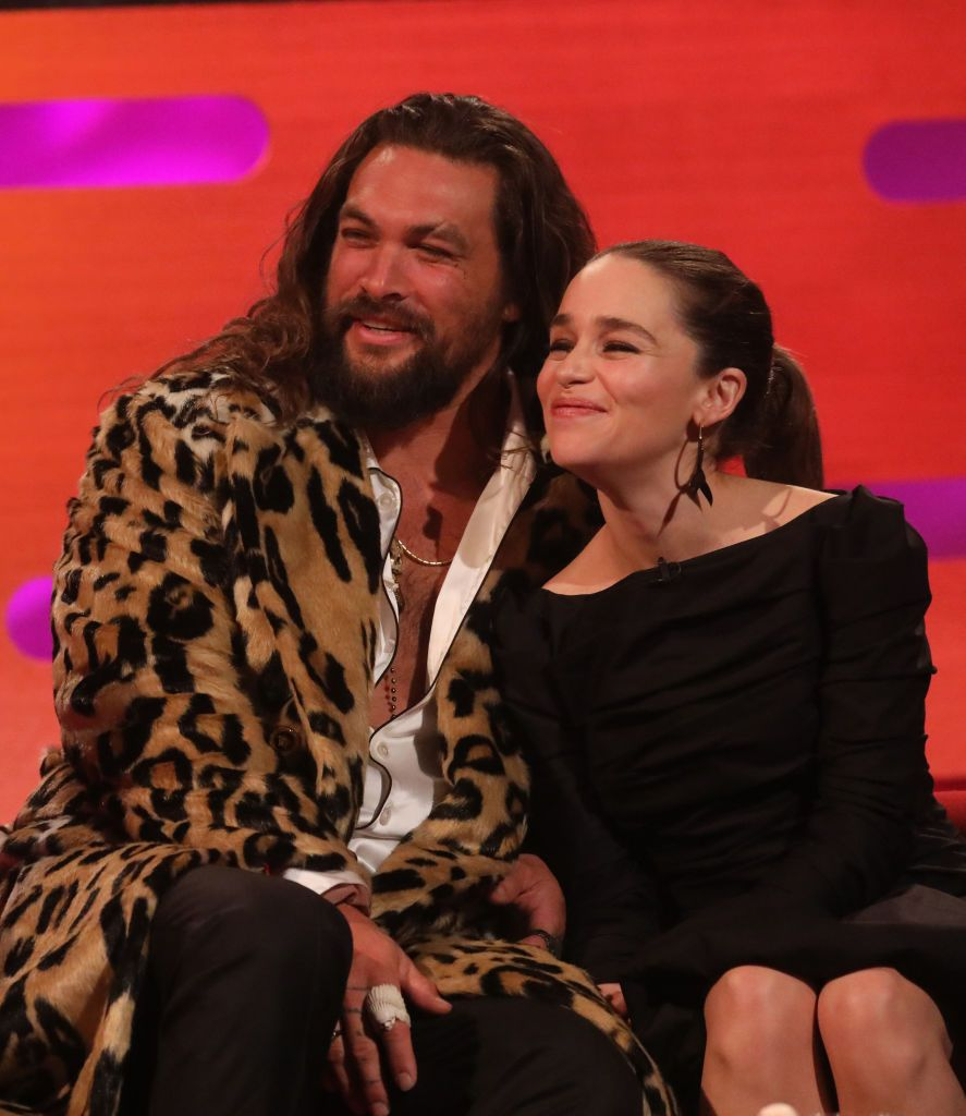 "Emilia Clarke Says Jason Momoa Was ""Kind"" and ""Considerate"" During GoT Nude Scenes"