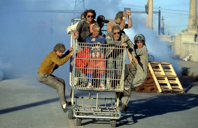 jason 'wee man' acu–a and johnny knoxville in 'jackass the movie'