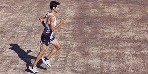 Javi Guerra en una entrevista para Runner's World