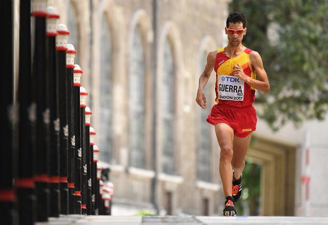 el atleta javi guerra en el campeonato de londres 2017