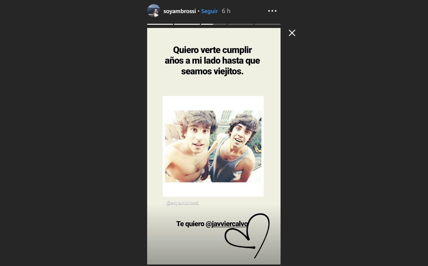 La romántica felicitación de Javi Ambrossi a Javier Calvo por su 28 cumpleaños