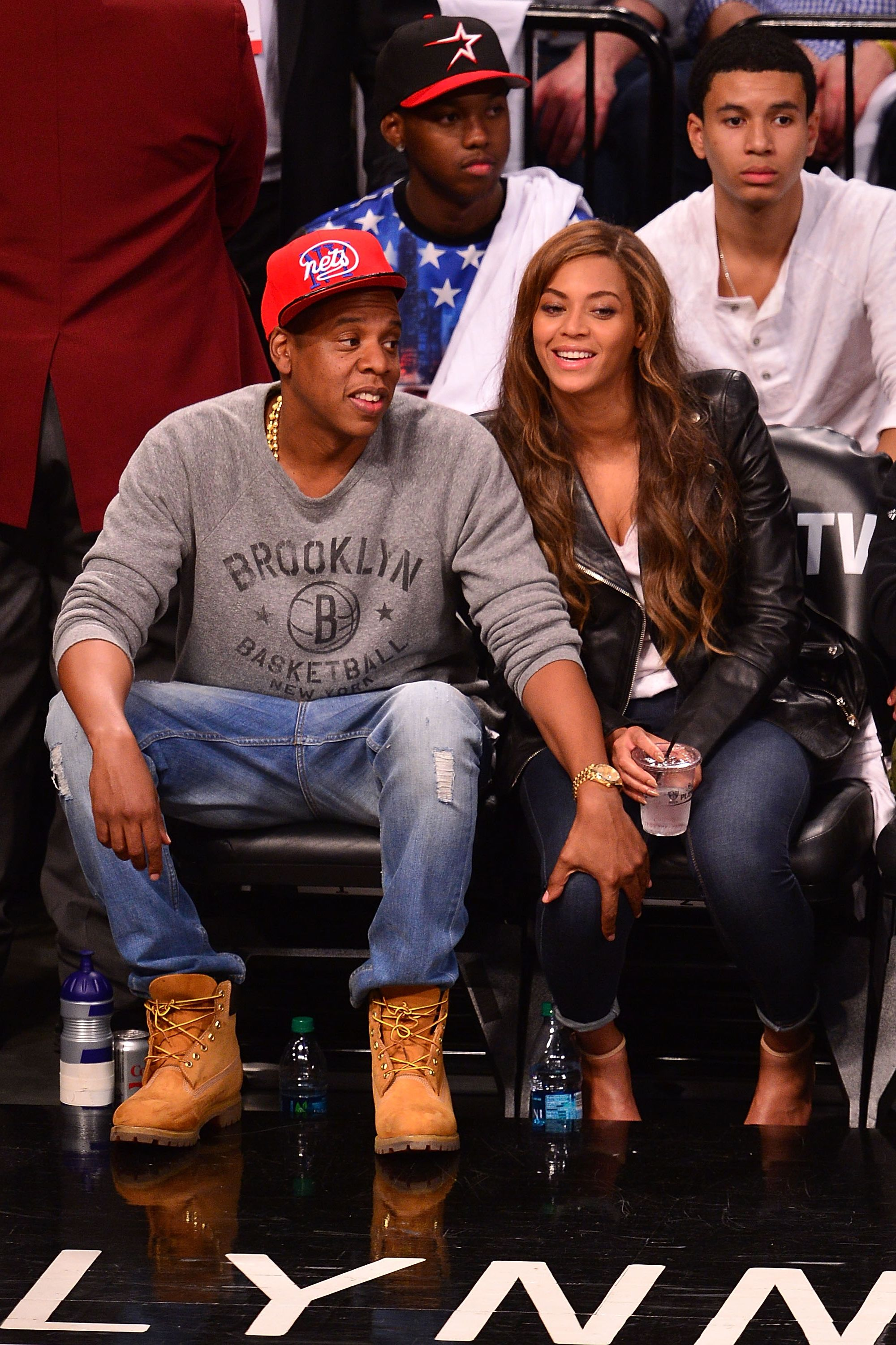 Celebrities Attend The Toronto Raptors Vs Brooklyn Nets Game