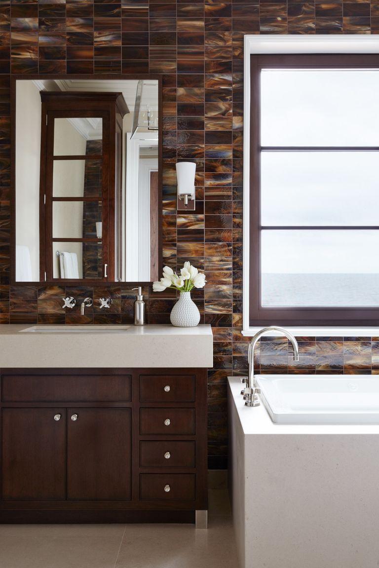 33 Bathroom Tile Design Ideas - Unique Tiled Bathrooms on Bathroom Tile Pattern Design  id=60670