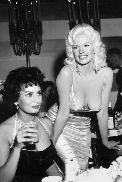 Jayne Mansfield Sophia Loren 1957