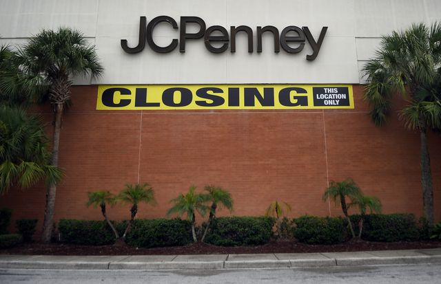 a jcpenney store that is in the process of closing after the