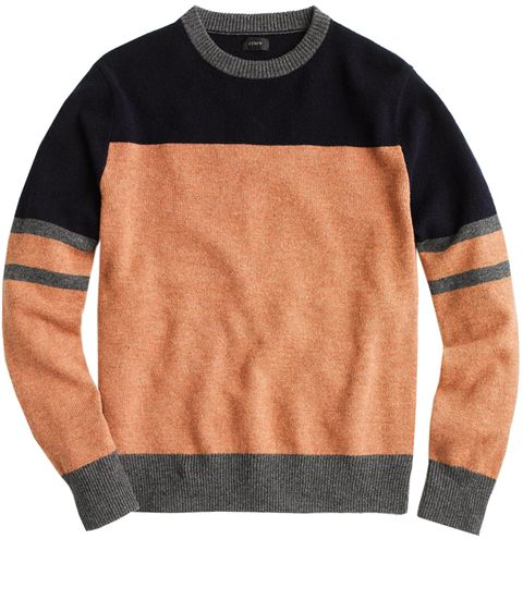 Clothing, Sweater, Orange, Long-sleeved t-shirt, Sleeve, Wool, Outerwear, T-shirt, Top, Beige,