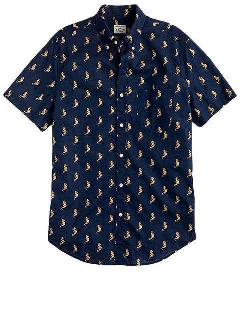 Clothing, Sleeve, Pattern, Button, Blue, Collar, T-shirt, Design, Polka dot, Shirt,