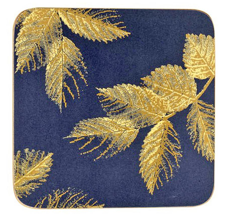 Set of 6 Etched Leaves Coasters from Sara Miller