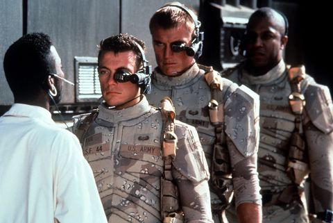 Jean Claude Van Damme And Dolph Lundgren In 'Universal Soldier'