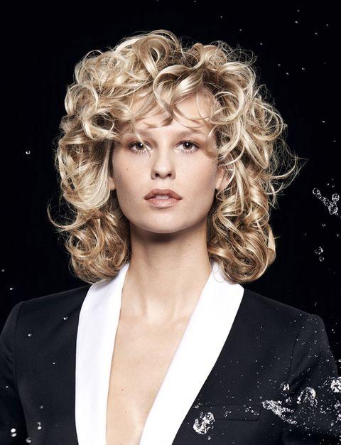 Hair, Hairstyle, Blond, Chin, Eyebrow, Beauty, Lip, Human, Long hair, Ringlet,