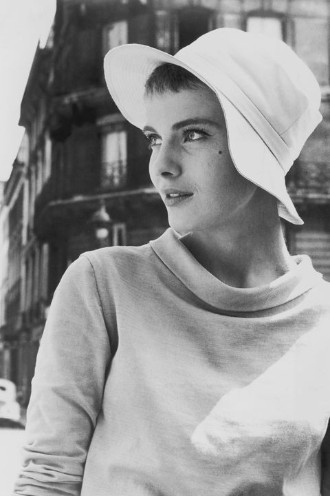 actress jean seberg 1938 1979 pictured wearing a hat and looking to the left of the image, usa, circa 1960 photo by pictorial paradearchive photosgetty images