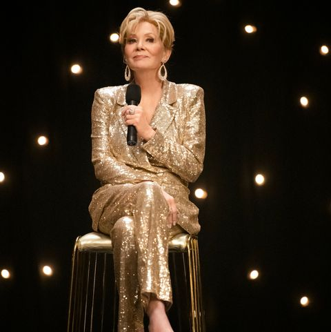 jean smart in sparkly gold suit