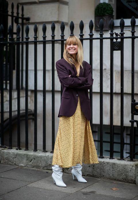 2019ロンドンファッションウィークに登場したジャネット・マデセン のストリートスナップ