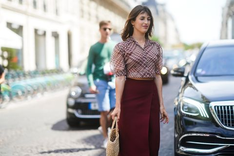 Street Style : Paris Fashion Week -Haute Couture Fall/Winter 2019/2020 : Day Two