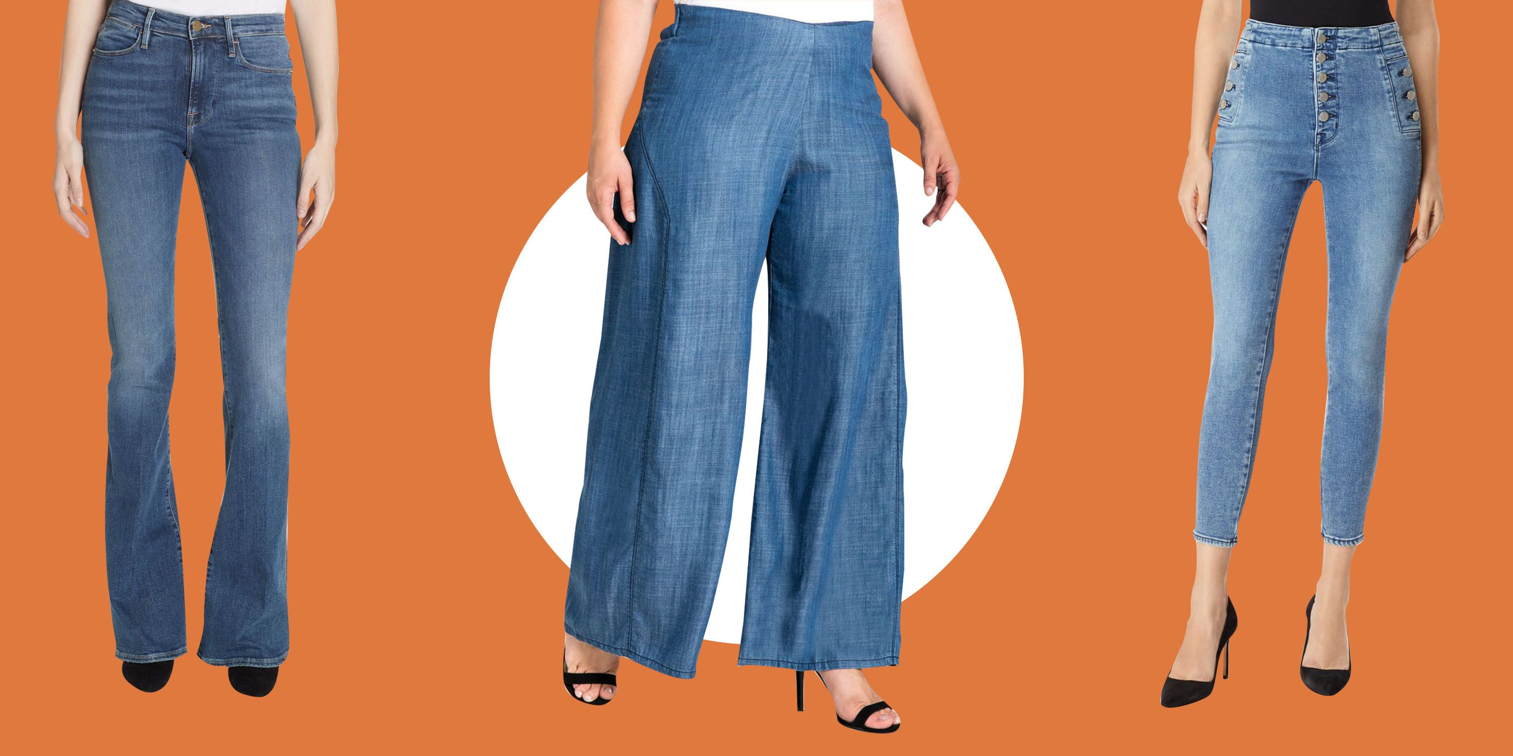 52d7791a33b The Most Flattering High-Waisted Jeans for Every Body Type