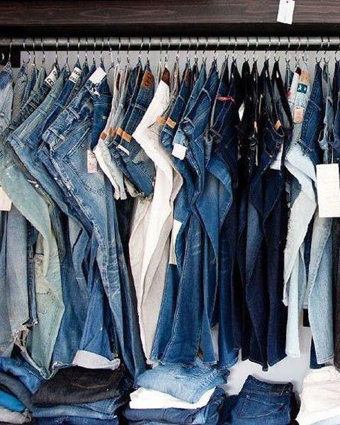 jeans on s hooks