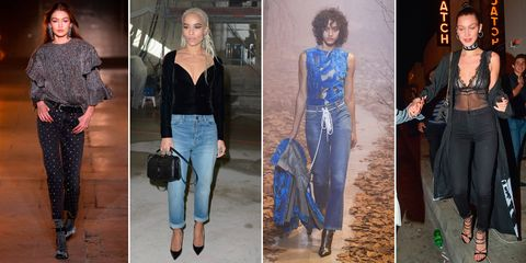 Celebrities wearing jeans and a nice top