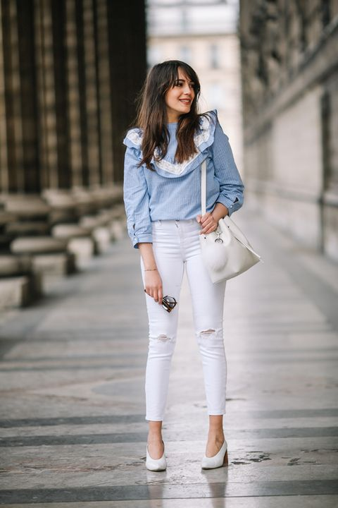Jeans bianchi street style