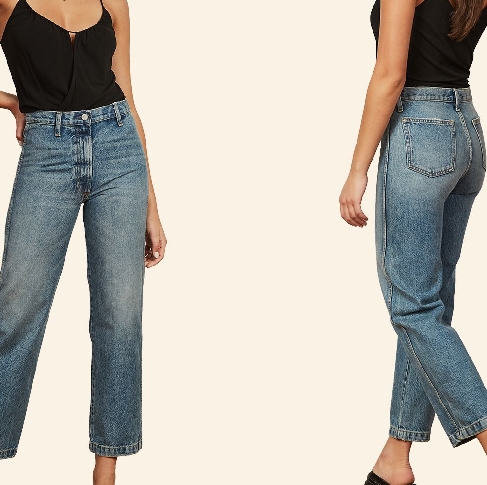 These Straight Leg Jeans Are Sustainable, Not Too Wide, and They Weirdly Smell Great?