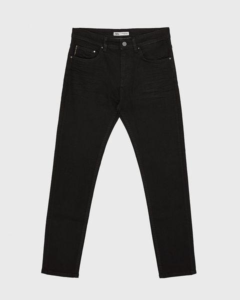 jeans slim negro Zara