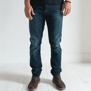 Denim, Jeans, Clothing, Pocket, Blue, Standing, Textile, Trousers, Footwear, Leg,