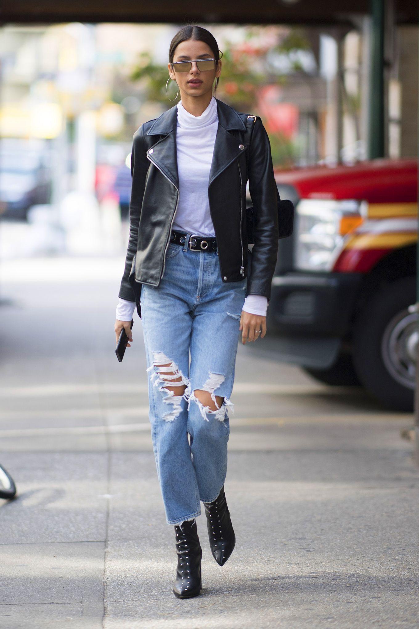 Jeans strappati donna moda inverno 2018: come abbinarli