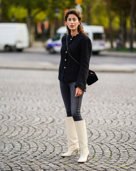jeans witte boots skinny outfits