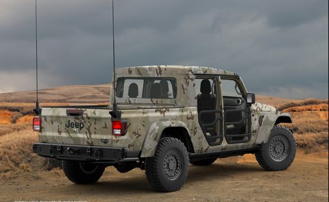 Chevy Military Trucks For Sale >> Jeep Gladiator Gets Even More Rugged As A Military Spec Vehicle