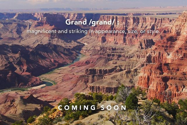 grand canyon with jeep text