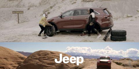 Jeep Grand Cherokee Trailhawk / Kia Sorento ad