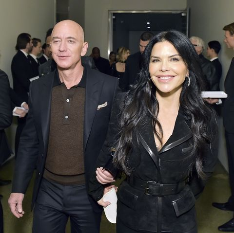 Jeff Bezos and Lauren Sanchez at theTom Ford: Autumn/Winter 2020 Runway Show in Los Angeles.