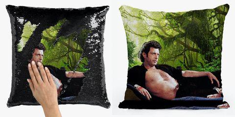 Cushion, Pillow, Throw pillow, Green, Furniture, Linens, Tree, Textile, Room, Bedding,