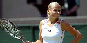 Tennis - Wimbledon 2003 - Women's Third Round - Maria Sharapova v Jelena Dokic