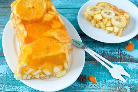 Jello fruit cake dessert