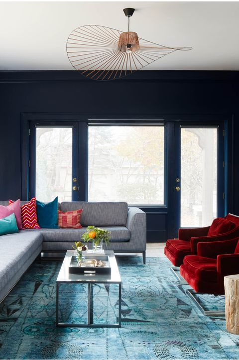 Living room, Room, Furniture, Interior design, Couch, Property, Blue, Turquoise, Home, Wall,