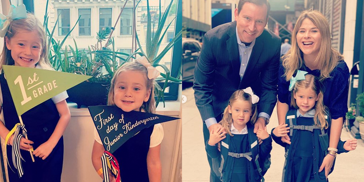 Jenna Bush Hager Shares Adorable Photos for Her Daughters' First Day Of School